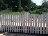 Забор деревянный - фото 1