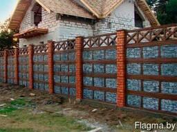 Забор еврозабор бетонный