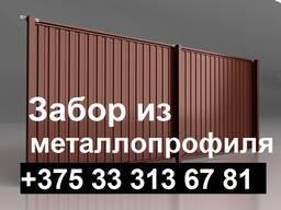 Забор из металлопрофиля г. Витебск