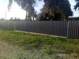 Забор из металлопрофиля(профнастила) в рассрочку0% до36 мес.