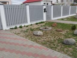 Забор из металлопрофиля штакетника ворота калитка