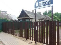 Забор из металлоштакетника, ворота, калитка