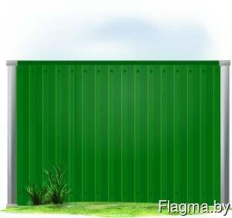 Забор из профнастила профлиста