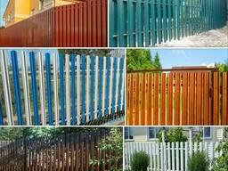 Забор, ворота из металлоштакетника под ключ