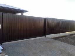 Забор, Ворота откатные, распашные.
