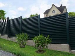 Горизонтальный забор жалюзи (ламели) 9005 МАТ двусторонний