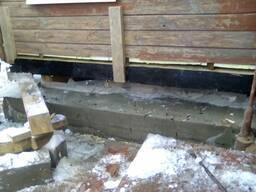 Замена венцов деревянных бревенчатых домов.