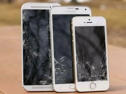 Замена стекла сенсора экрана дисплея в телефоне планшете