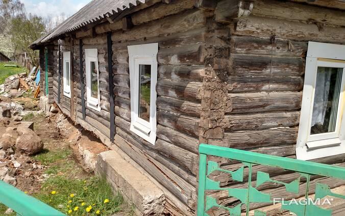 Замена венцов реконструкция фундамента подъем дома