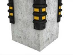 Защита колонн резиновая угловая