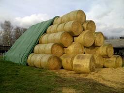 Защитное укрытие тюков и стогов соломы, сена, льна (флис)