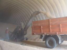 Зернохранилища напольного типа - стальные амбары