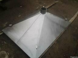 Зонт вентиляционный островной из нержавеющей стали
