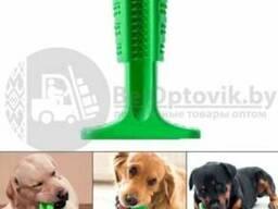 Зубная силиконовая щетка игрушка массажер для чистки зубов мелких пород собак Pet. ..